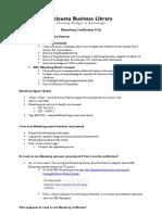 Bloomberg FAQ 2 Certificate Programs
