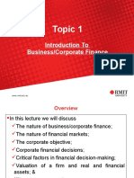 RMIT Business Finance lecture 1
