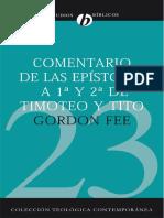 Comentario 1 - 2 Timoteo y Tito - Gordon Fee