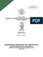 Soal OSP2013 Kebumian
