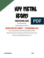 Heavy Metal Æons Playtest