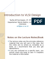 Introduction to Vlsi Design Taufiq Alif Kurniawan St Mt Msc Departemen Teknik