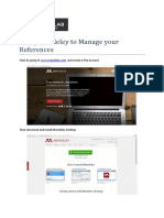 using mendeley to manage your references