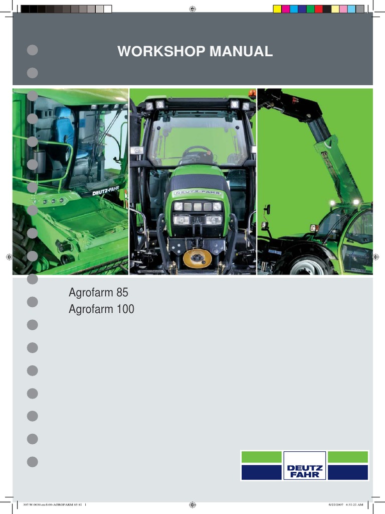 AGROFARM 85 100 Repair manual | Transmission (Mechanics) | Manual  Transmission