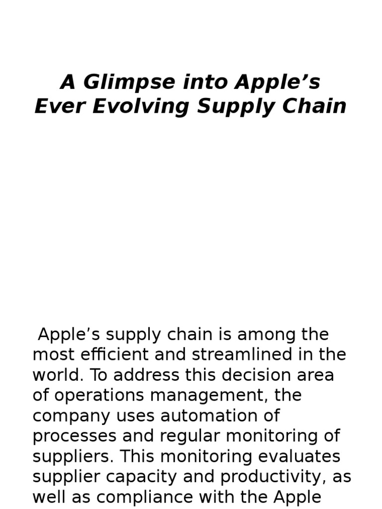 apple operations management
