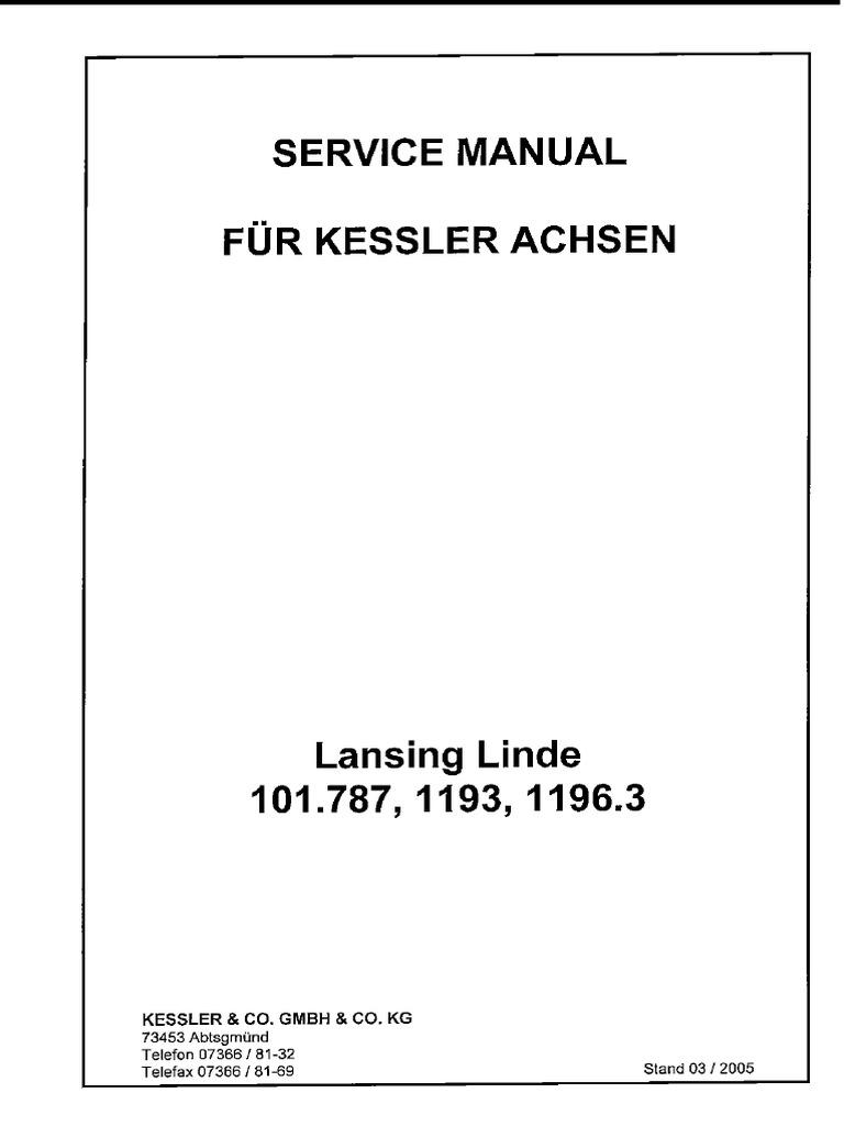 Linde manuals array linde 101 78711931196 service manual rh scribd fandeluxe Gallery