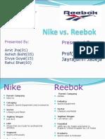 Nike vs Reebok Final