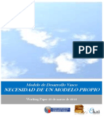 Modelo de Desarrollo Vasco. NECESIDAD DE UN MODELO PROPIO
