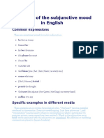 Examples of the Subjunctive Mood in English