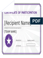 Certificate of Participation 2