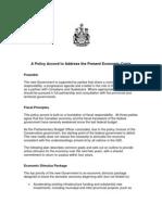Liberal-NDP-Bloc Coalition Policy Framework