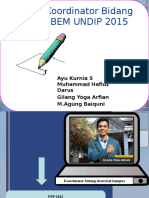 Koordinator Bidang BEM UNDIP 2015