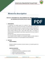 Memoria Descriptiva Proyecto Cerco