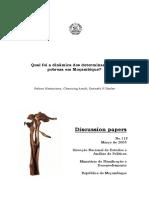 Dinamica Das Determinantes Da Pobreza Em Mocambique