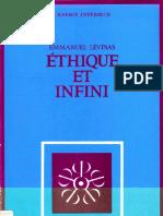 LEVINAS, Emmanuel. 1982. Ethique Et Infini