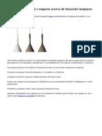 Interesante servicio y negocio acerca de foscarini lamparas