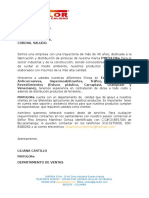 Carta de Presentacion Pintulor Portafolio