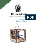 Ultimaker Original Assembly Manual v1.1