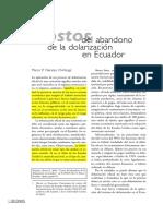 Naranjo_Costos Del Abandono de La Dolarización