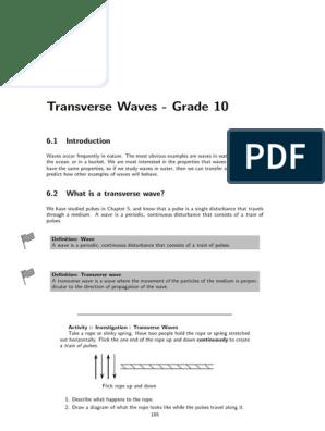 Transverse Waves | Waves | Wavelength