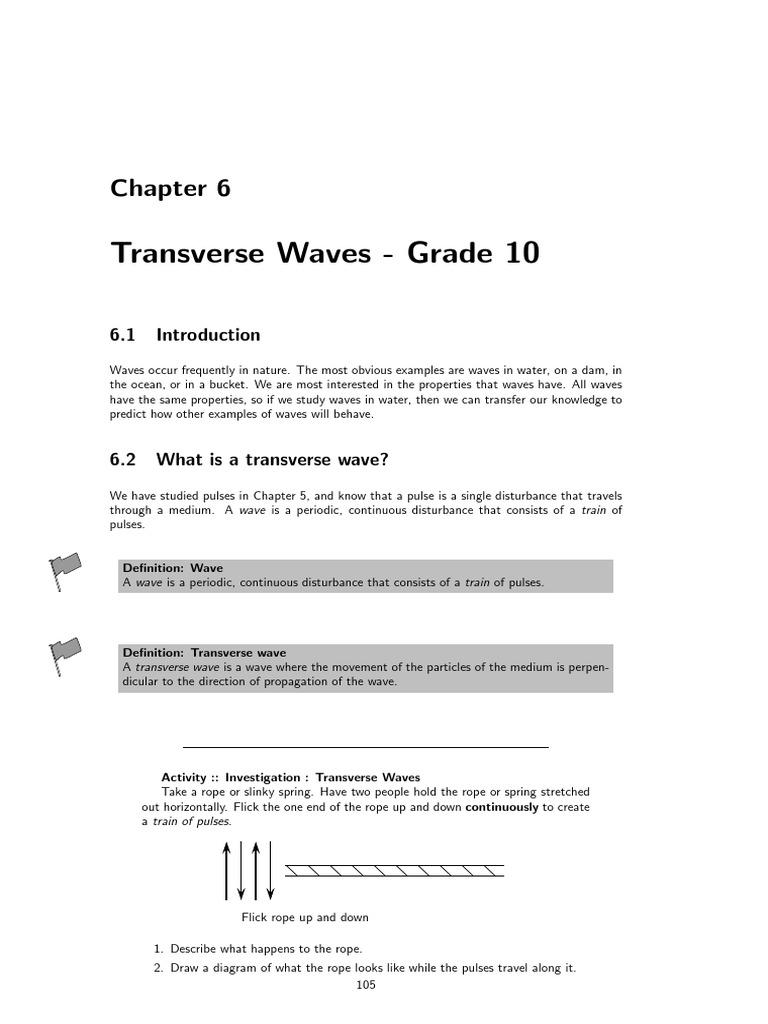 Transverse waves waves wavelength pooptronica