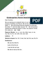parent newsletter 16