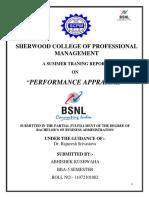 Projectreportonperformanceappraisalofbsnl Abhishek Kushwaha