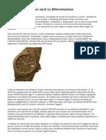 Orologi In Legno For each La Riforestazione