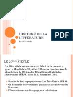 Histoire de La Littrature Du 20me Sicle(1)