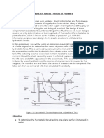 Hydrostatic force - Centre of Pressure  Lab Report