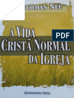 A Vida Cristã Normal Da Igreja