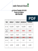 2015-16 timetable for high school options