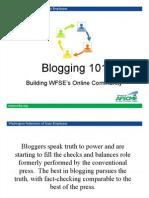 Blogging 101 PPT