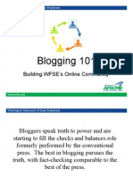 Blogging 101 PPT