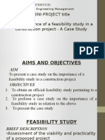 Case Study for Importance of Feasibility Study