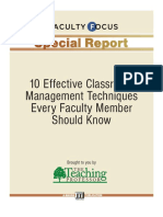 10 Effective Classroom Management Techniques