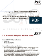Analysis of NGMN Requirement 4 - LTE Automatic Neighbor Relation (ANR) and Self Organizing Networks (SON)