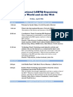 Transnational LGBTQ Organizing in the World and on the Web - International Resource Network's One-day Symposium