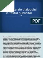 Reflexe Ale Dialogului in Textul Publicitar