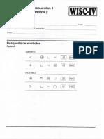 WISC IV - Busqueda Simbolos y Claves 6 y 7001