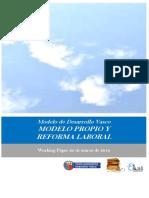 Modelo de Desarrollo Vasco. MODELO PROPIO Y REFORMA LABORAL