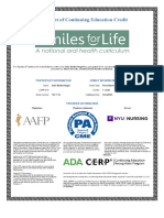 certificate 4 smiles for life