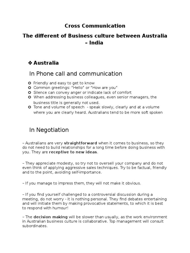 Cross Communication Negotiation Etiquette