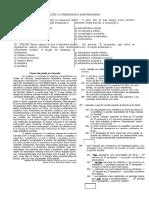 Lista de Exercícios Sobre Coordenadas e Subordinadas