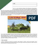Dragon T-34 in 1:72 Vignette