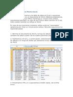 Vincular Datos Entre Word y Excel