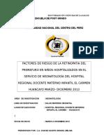 Proyecto Doctorado Rop Prevalencia Chavez Quispe Grissel Melina