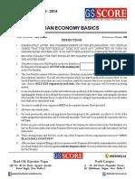 GS Score Indian Economy Question Paper