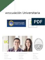 Articulacion Institución CERVANTES