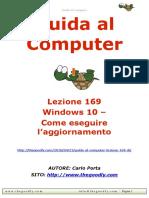 Guida al Computer - Lezione 169 - Windows 10 – Come eseguire l'aggiornamento